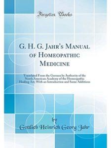 Gottlieb Heinrich Georg Jahr german  homeopathic medicines