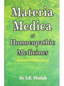 S R Phatak materia medica  homeopathic medicines